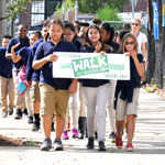 Paul Cuffee Students Celebrate International Walk to School Day