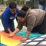 PCS Students Honor Inspirational People with their Street Paintings